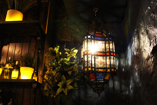 Moroccan lantern hanging in Dirty Little Secret Liverpool