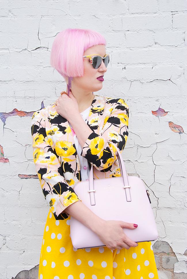 Prada cadillac, pink hair, blogger