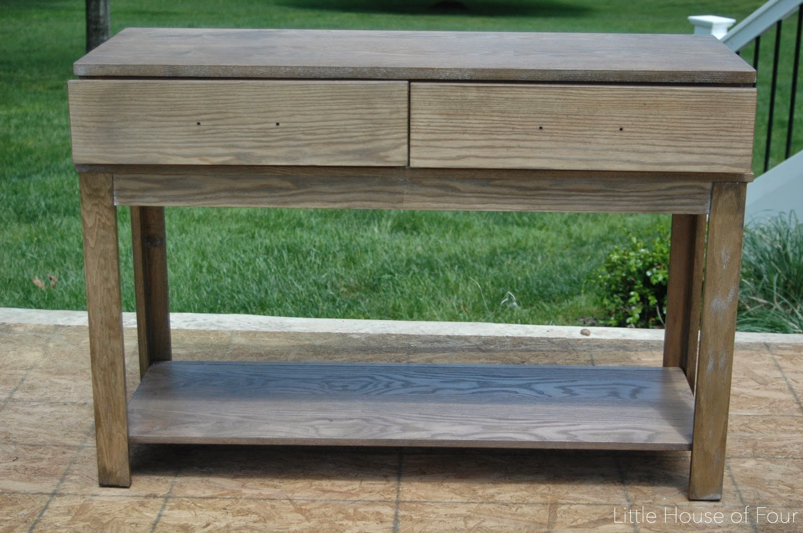 Console table before stain