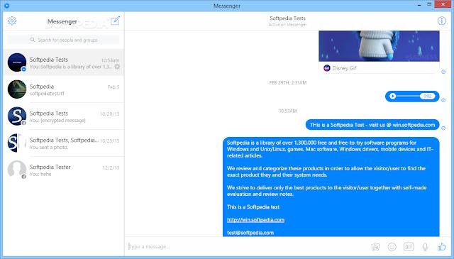 تحميل فيسبوك مسنجر للكمبيوتر مجانا Messenger for Desktop 1.4.3