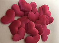 Hot Pink Fabric Heart Confetti by OilPatchBurlesque