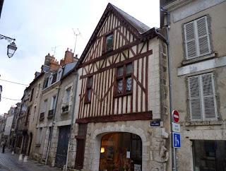 Casas de entramados de madera de Blois.