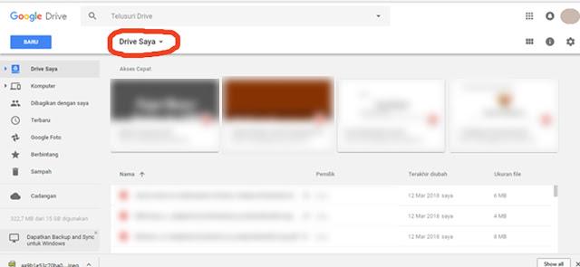 langkah-langkah menggunakan google drive