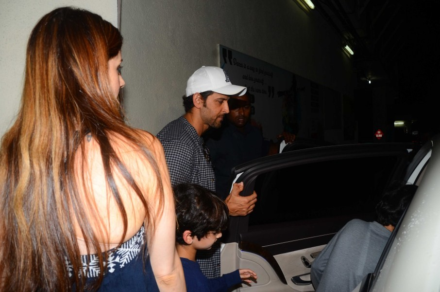 Hrithik Roshan and Sussanne Enjoy a Movie Outing with Kids
