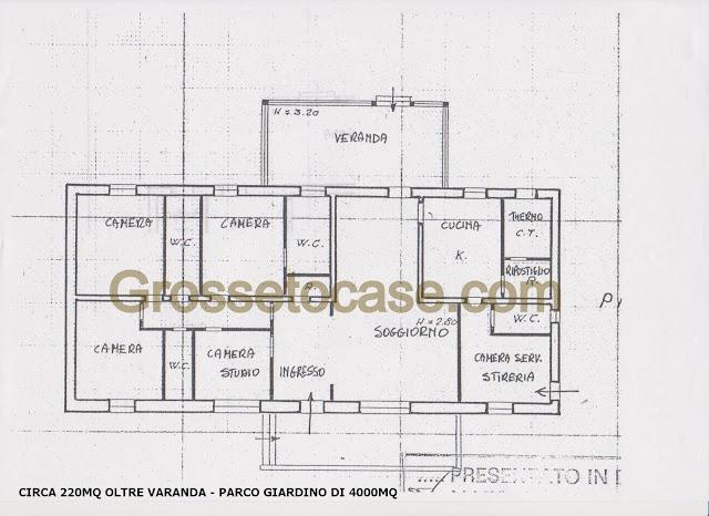 Villa unifamiliare con parco in vendita a grosseto for Planimetrie popolari