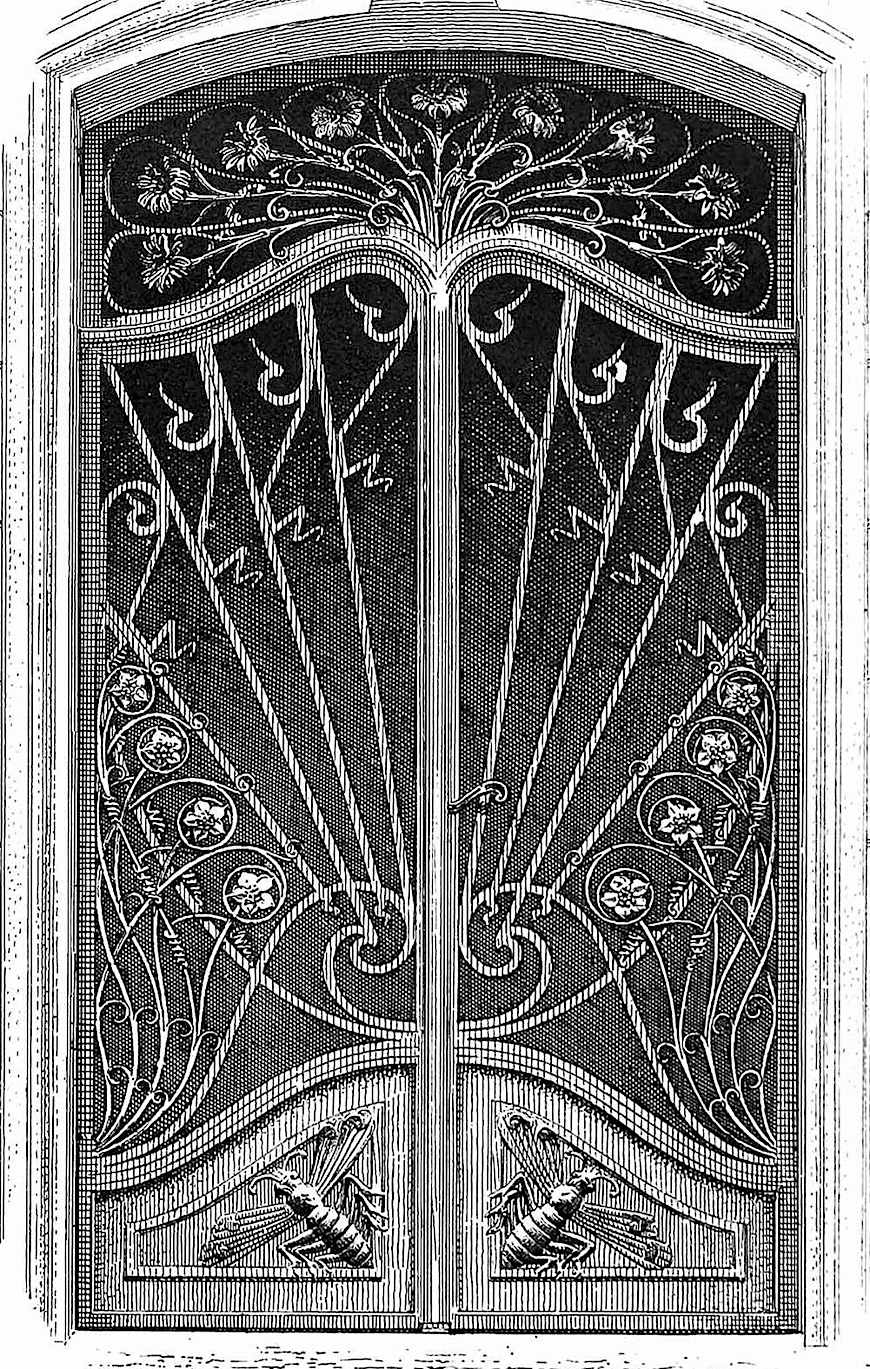 1890s? metal doors, an unusual illutration