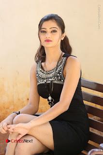 Actress Poojitha Pallavi Naidu Stills in Black Short Dress at Inkenti Nuvve Cheppu Movie Platinum Disc Function  0180.JPG