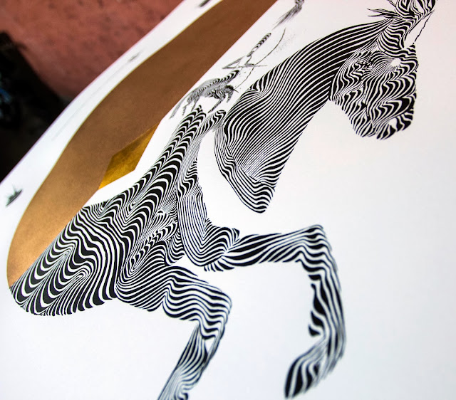 """Hayagriva"" Limited Edition Screen Print By Italian Street Artist 2501 for StreetArtnews. 2"
