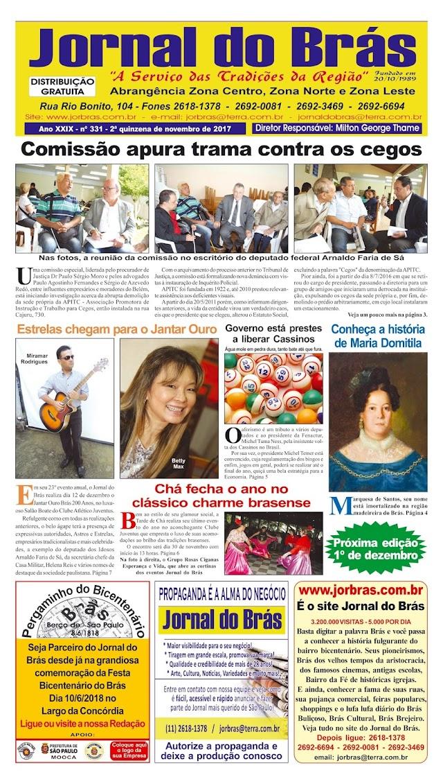 Destaques da Ed. 331 - Jornal do Brás