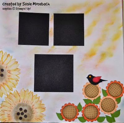 http://stampwithtrude.blogspot.com scrapbook page by Susie Mosebach