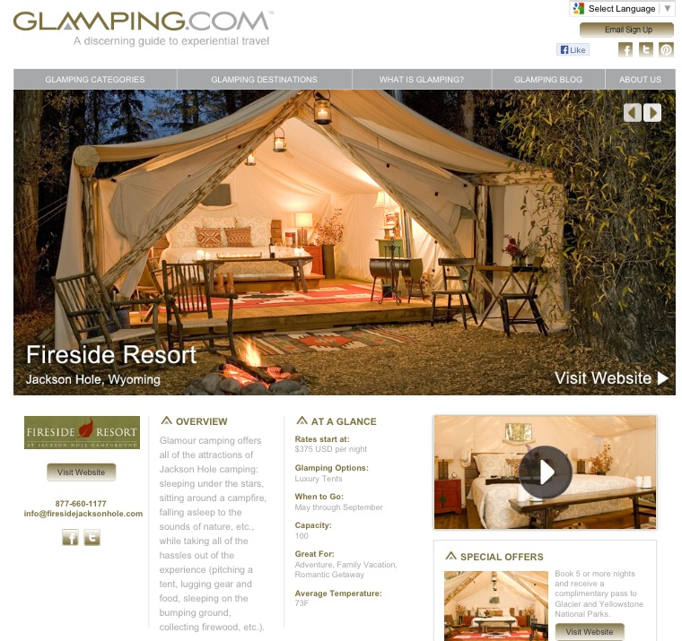 A Teaspoon of Thoughts: On Holiday: Glamping Edition