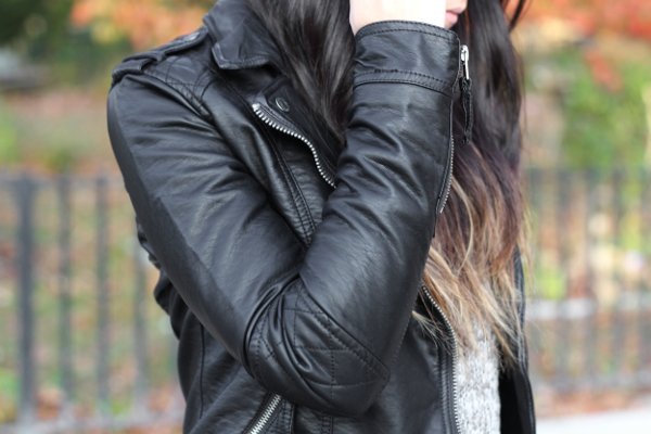 Jessica Lemos jess jesslemos abercrombie & fitch #afstlist leather tatum jacket flannel sweater