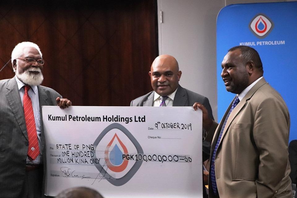 Marape Govt receives K100 million in Dividends from KPHL