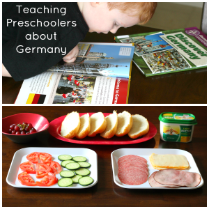 Teaching preschoolers about Germany, as part of Around the World in 30 Days- Geography and cultural activities for toddlers and preschoolers