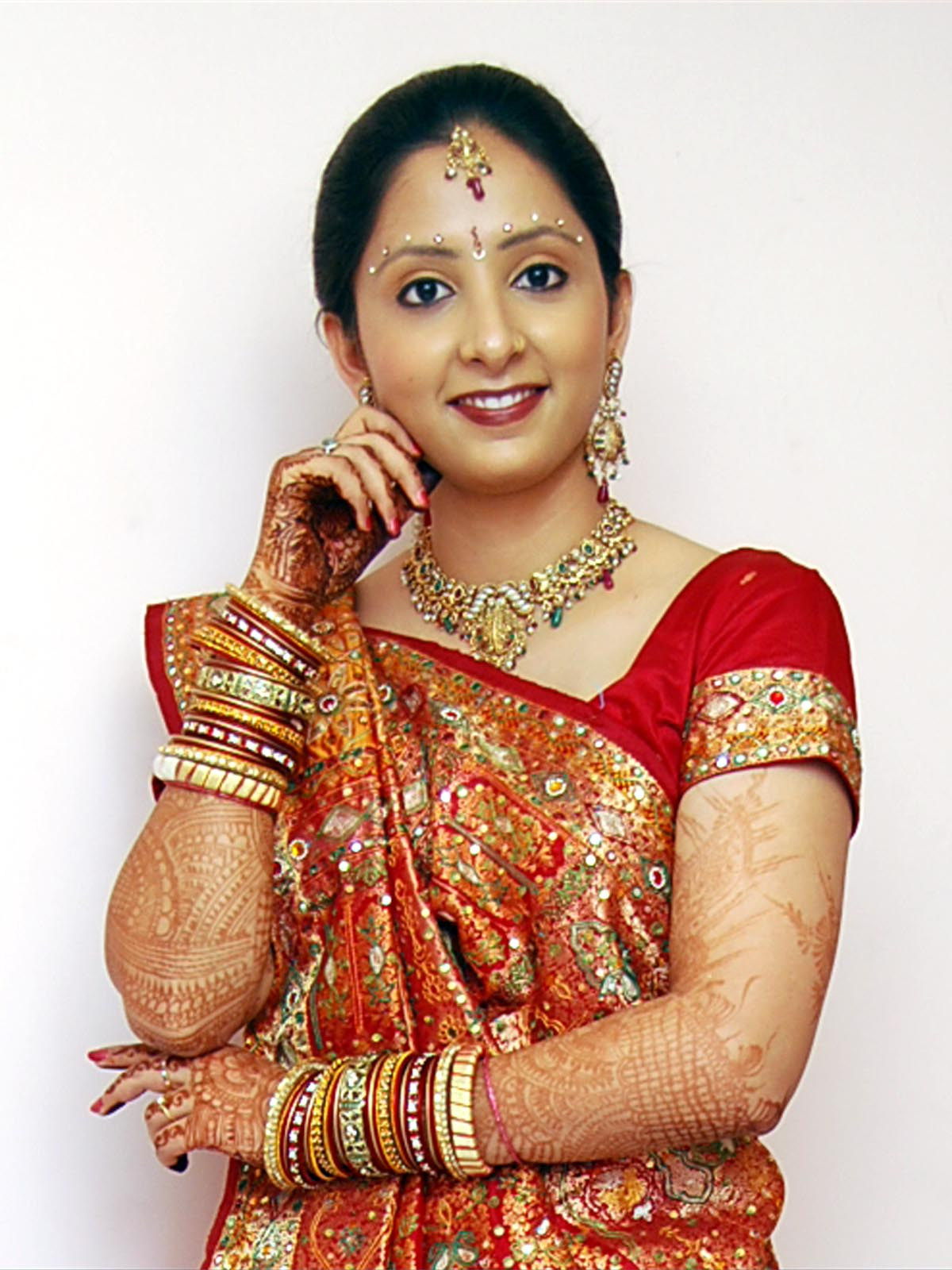 Indian bridal dress up