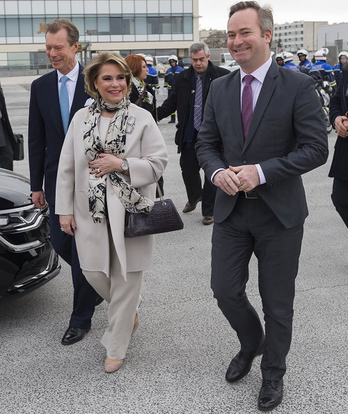 Grand Duke Henri and Grand Duchess Maria Teresa visited the National Centre for Space Studies and Airbus A380 assembly site in Blagnac