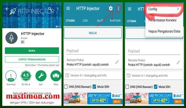 Internetan Gratis Unlimited dengan aplikasi HTTP Injektor 2017