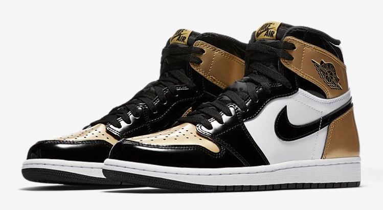 official photos acab4 42794 Here is a look at the Air Jordan 1 High OG NRG  Gold Toe  Sneaker Available  at 10am EST HERE at Shoe Palace, HERE at Footaction, HERE at Eastbay, ...