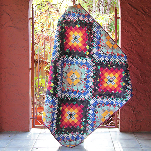 Soleil Quilt Free Pattern designed by Katarina Roccella of Live art gallery fabrics