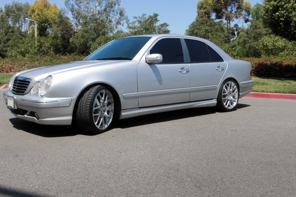 mercedes benz e55 amg w210 on r19 benztuning. Black Bedroom Furniture Sets. Home Design Ideas