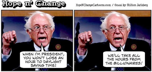 obama, obama jokes, political, humor, cartoon, conservative, hope n' change, hope and change, stilton jarlsberg, bernie sanders, daylight saving time