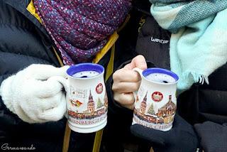 Glühwein Nürnberg Weihnachtsmarkt alemania