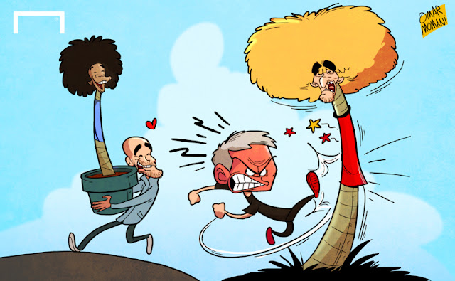 Guardiola happy with Sane while Mourinho is kicking Fellaini