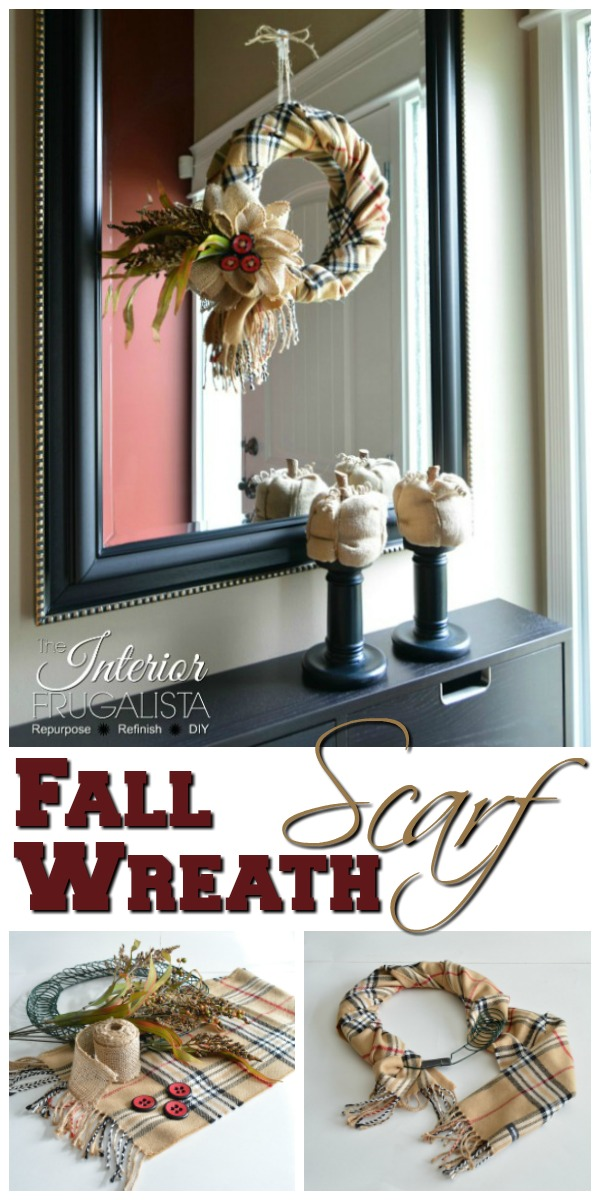 How to make a simple Fall Scarf Wreath