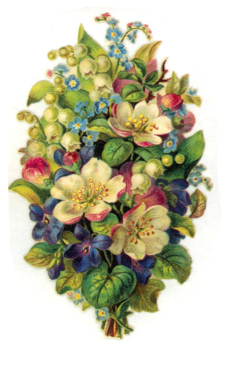 ArtbyJean - Vintage Clip Art: Beautiful bouquets of ...
