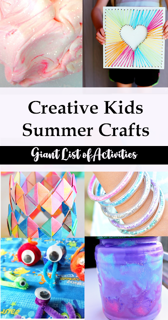 Large list of Creative Kids Summer Activities and Crafts