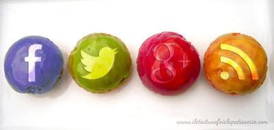 choux facebook , twitter, google plus et rss feed