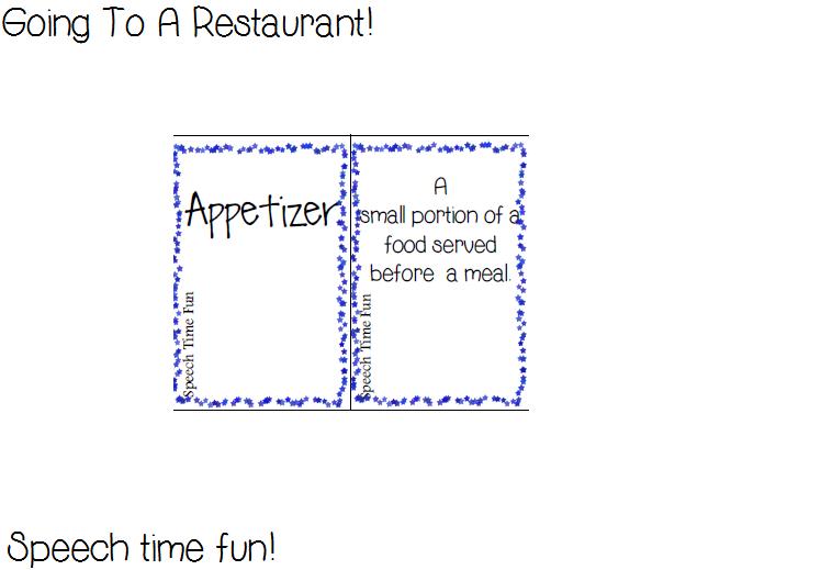 Going To A Restaurant: Language & Pragmatic Activities