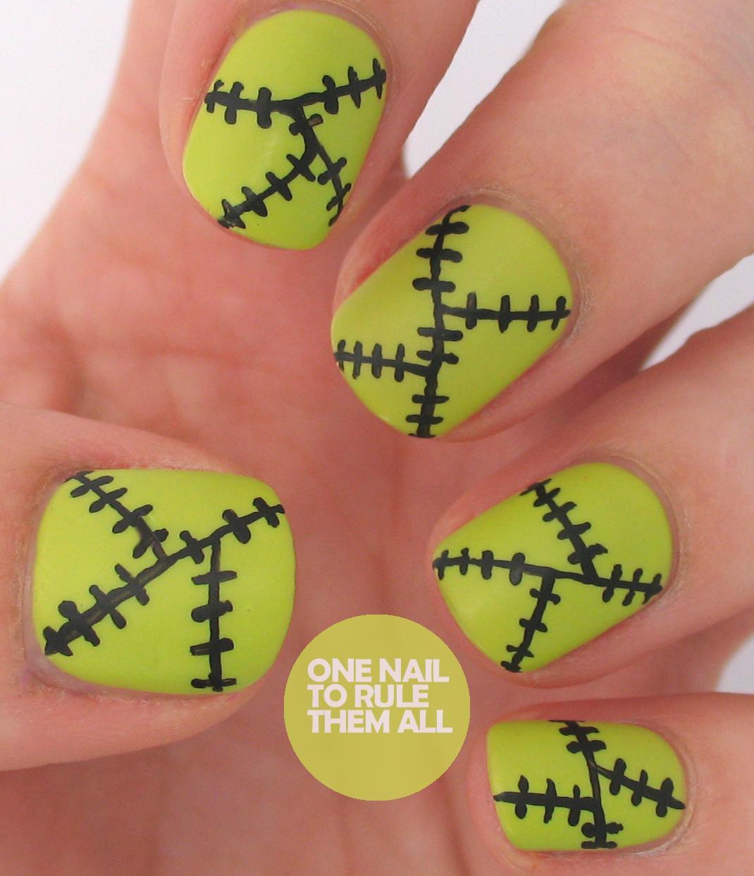 Frankenstein-ish nails | Nail Art Designs
