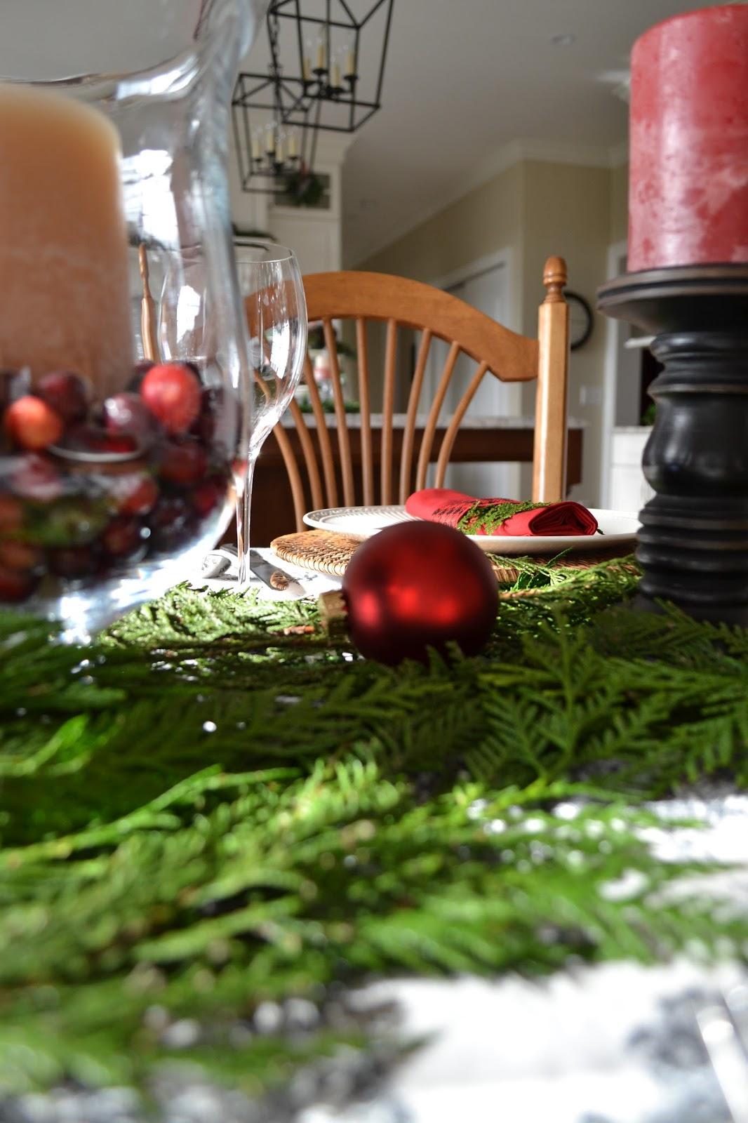 Fresh Greens on Christmas Table