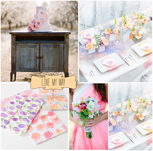The Wedding Decorator: Watercolour Wedding Inspirations