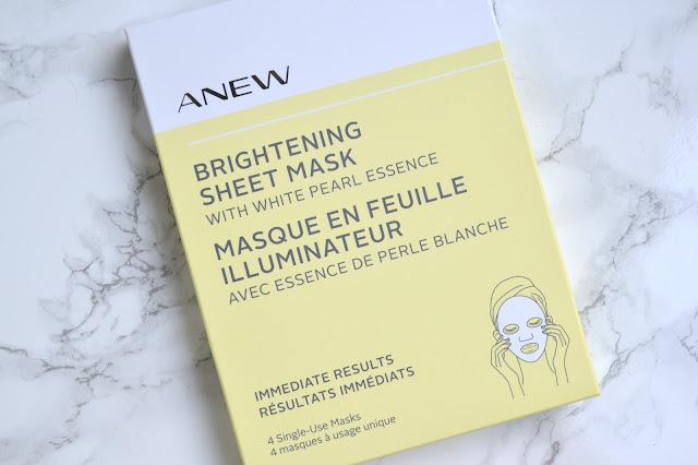 Avon Anew Brightening Sheet Mask Review