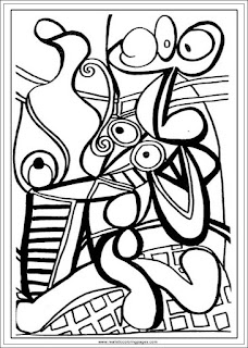 large still life with a pedestal table pablo picasso coloring pages