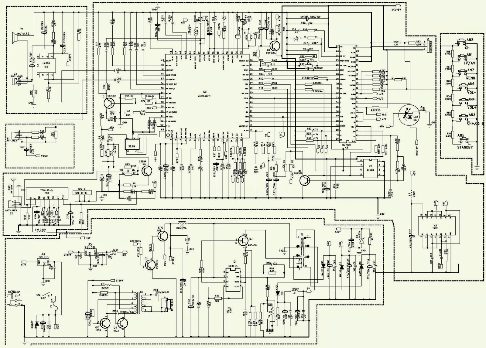 7 inch tft circuit diagram wiring diagram viewhyundai tv 800 7 inch tft lcd tv schematic [ 1600 x 1146 Pixel ]