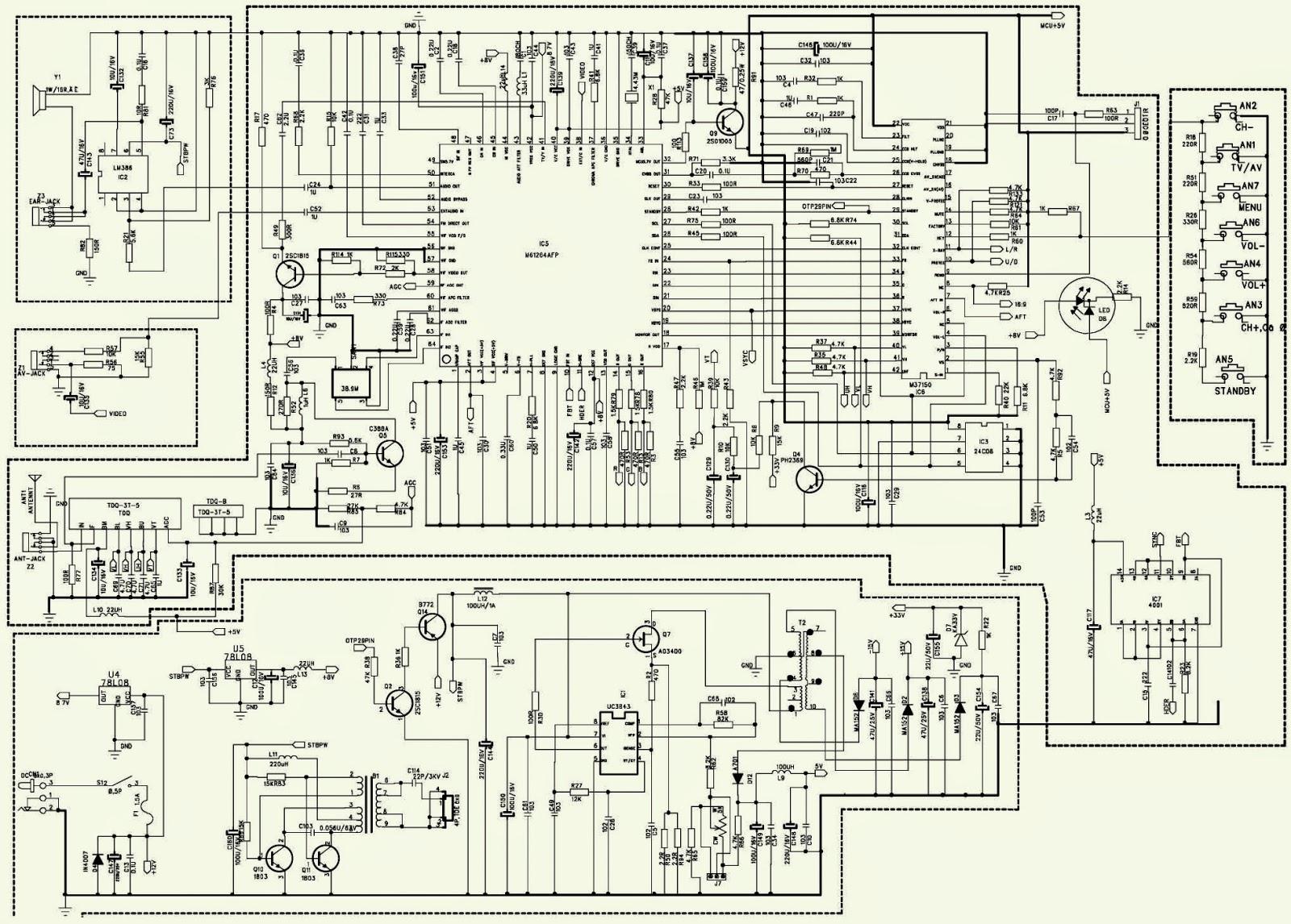 hyundai tv 800 7 inch tft lcd tv schematic circuit diagram  [ 1600 x 1146 Pixel ]