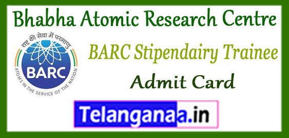 BARC Bhabha Atomic Research Centre Stipendiary Trainees Admit card 2018 Syllabus Result