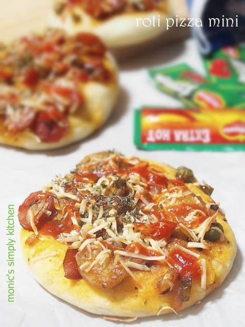 resep roti pizza mini