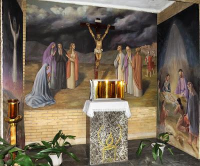 Cuadros de Tresguerres en la iglesia de Santa Marina de Mieres