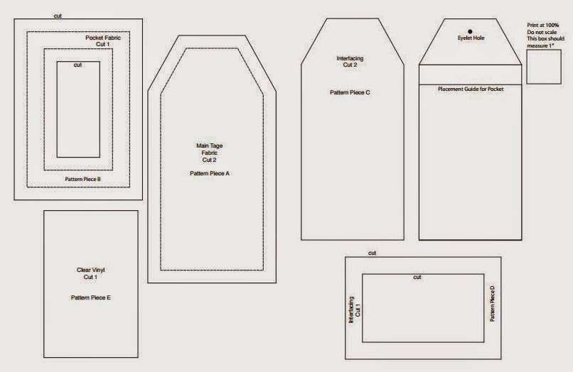 delicious reads diy make your own luggage tags link to pdf pattern. Black Bedroom Furniture Sets. Home Design Ideas