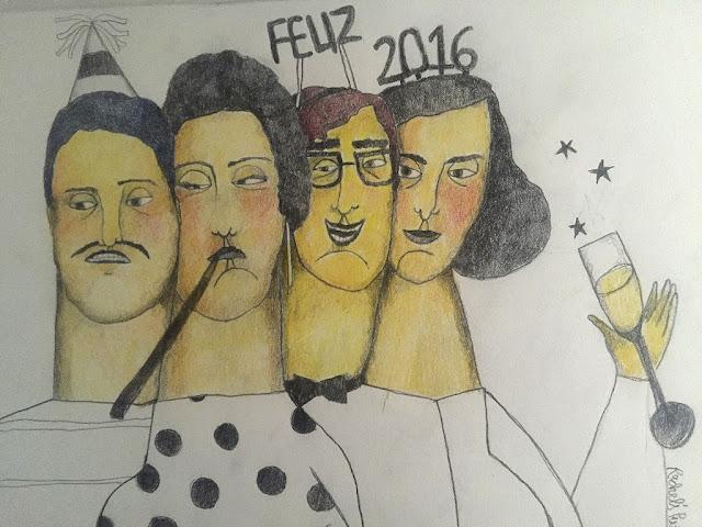 Ilustración Año Nuevo - Happy new year illustration