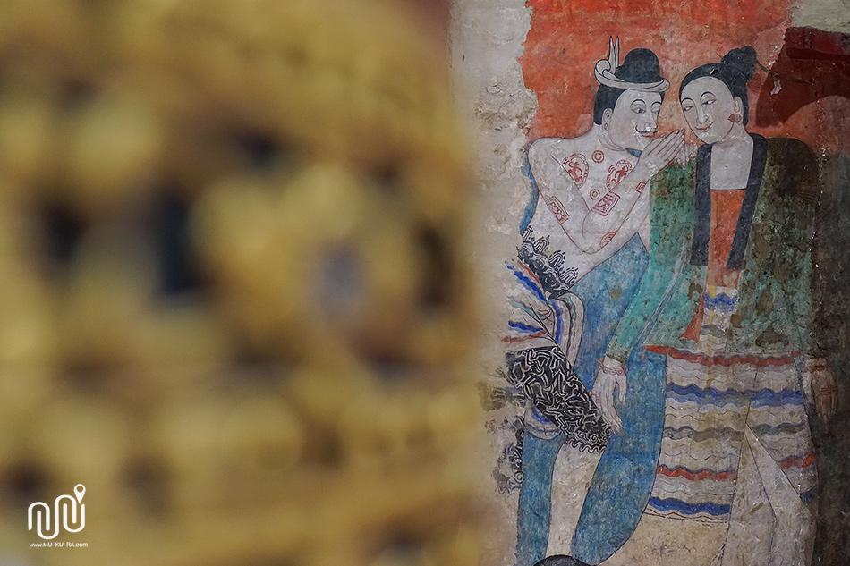 ที่เที่ยวน่าน 04 : วัดภูมินทร์ จิตรกรรมฝาผนังตำนานกระซิบรัก ปูม่าน ย่าม่าน