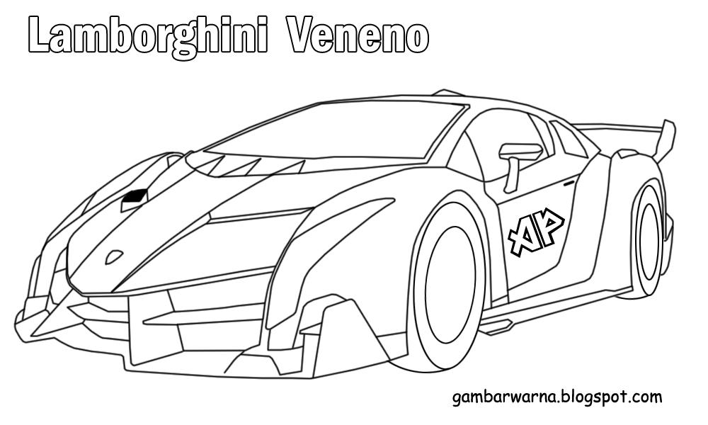 Izarnazar Mewarnai Gambar Mobil Lamborghini