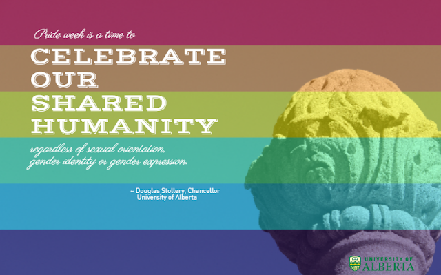 Pride Week - University of Alberta Chancellor Douglas Stollery