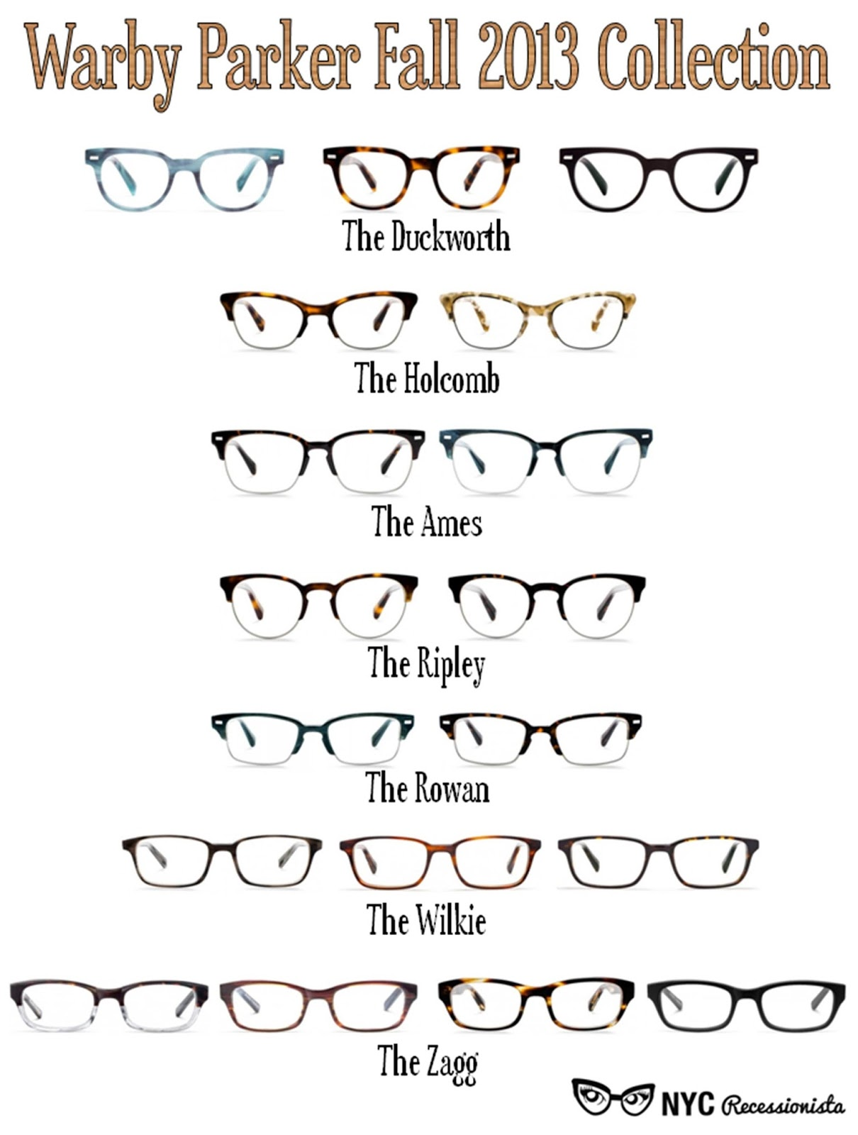 1733e90f68 FIRST LOOK  Warby Parker Fall 2013 Collection - NYC Recessionista