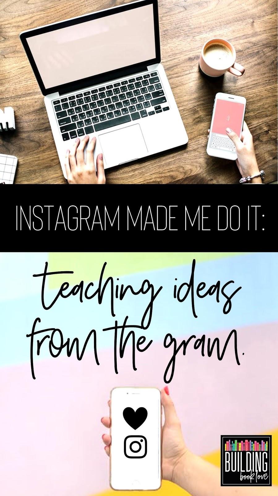 Building Book Love : Instagram Made Me Do It: Teaching ideas