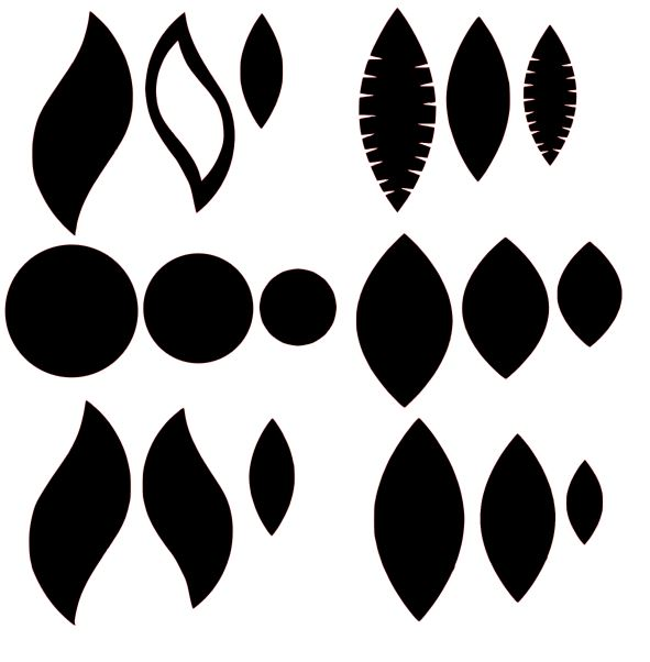 Leather Earring Svg File Free